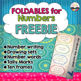 Foldables for Numbers FREEBIE