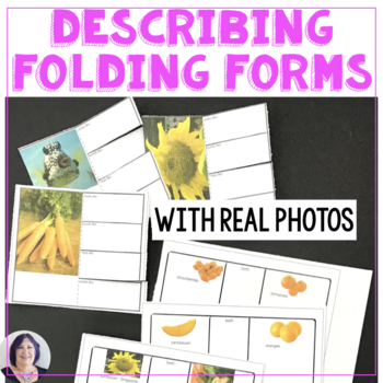 Foldable Forms with Photos for Describing Comparing Contrasting Practice