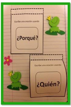 Foldables y recursos para libreta interactiva de Español: incluye dos rúbricas