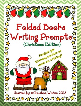 Folded Books Writing Prompts {Christmas Edition}