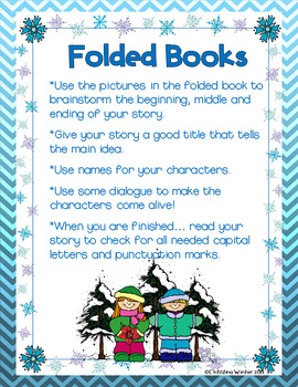 Folded Books Writing Prompts {Winter Edition}