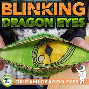 Folded Dragon Eyes Art Lesson - Dragon Origami Art Lesson - Dragon Eyes