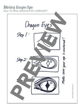 Folded Dragon Eyes Art Lesson