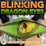 Origami Dragon Eyes - Origami Elementary Art Lesson - Middle School Art