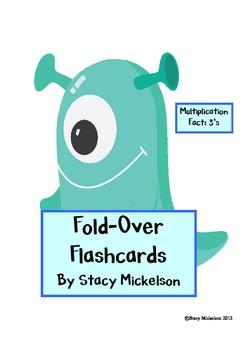 Folded Flashcards - Multiplication - 3's