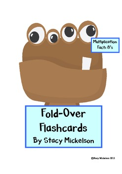 Folded Flashcards - Multiplication - 8's
