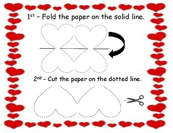 Folded Heart Valentine's Day Card Cutout