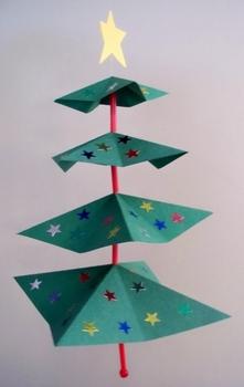 Folded Holiday Tree Mobile