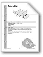 Folded Paper Caterpillar