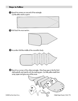 Folded Paper Crocodile