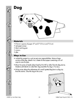 Folded Paper Dogs and Dog Puppet