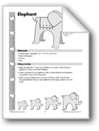 Folded Paper Elephant