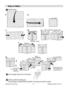 Folded Paper Frilled Lizard Popper