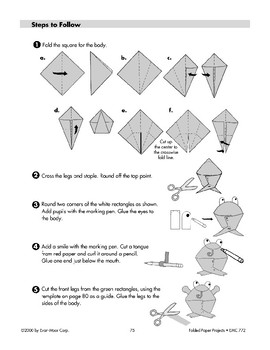Folded Paper Frogs