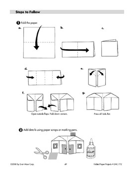 Folded Paper House