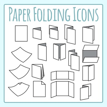 Folded Paper Icons Clip Art Set for Commercial Use