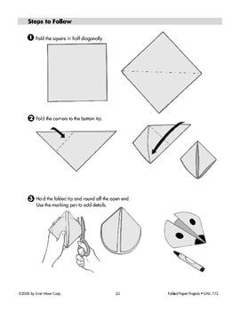 Folded Paper Ladybug