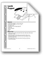 Folded Paper Lamb Puppet