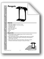 Folded Paper Penguin