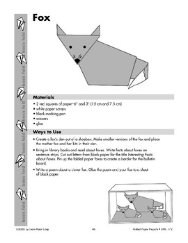 Folded Paper Raccoon and Paper Fox