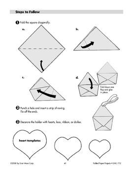 Folded Paper Valentine Holder