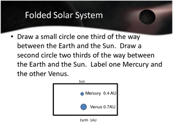 Folded Solar System Model activity -  NGSS MS standard