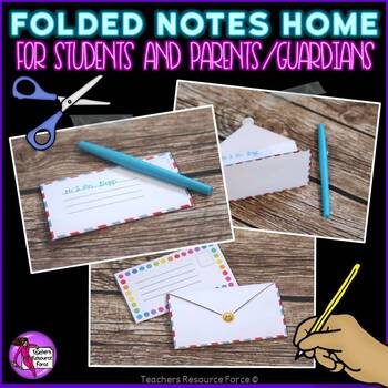 Notes home to parents templates