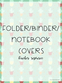 Folder/Binder/Notebook Covers - Cactus Theme