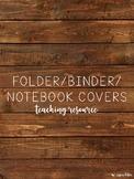 Folder/Binder/Notebook Covers - Rustic Theme