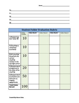 Folder Checklist