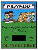 Folder Cover - Friday Folder