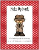 Folder Cover for Absent Student~ Red Polka Dot Detective
