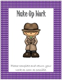 Folder Cover for Absent Student~ Purple Polka Dot Detective