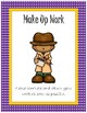 Folder Cover for Absent Student~ Purple Polka Dot with Gold Trim Detective