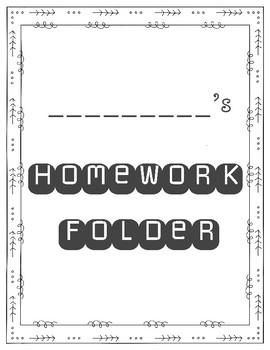 Folder Covers (Homework Folder, Test Folder, News Folder, Friday Folder)