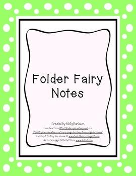 Folder Fairy Notes