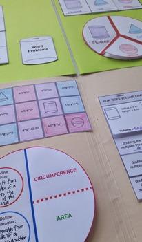 Folder Flips: Volume of Cylinders, Cones, & Spheres Interactive Notebook Unit