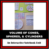 Folder Flips: Volume of Cylinders, Cones, & Spheres Intera