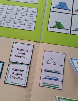 Folder Flips: Triangle Sum Theorem & Exterior Angles Theorem