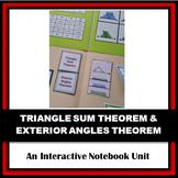 Folder Flips: Triangle Sum Theorem & Exterior Angles Theorem