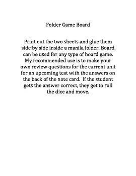 Folder Game Board
