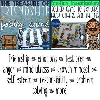 Folder Game Bundle for Elementary School Counseling
