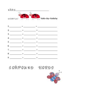 Folder Game: Compound Words
