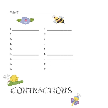 Folder Game: Contractions