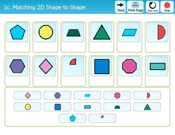 Folder Games - 2 Dimensional Shapes
