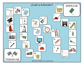 Folder Games Spanish Articulation & Language Games