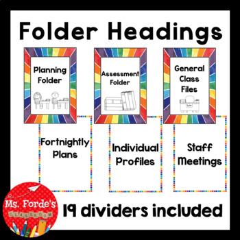 Folder Headings