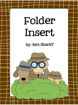 Folder Insert - Detective Theme {EDITABLE}