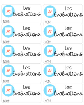 Folder Labels - FRENCH Edition