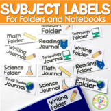 Folder Labels, Notebook Labels, Journal Labels